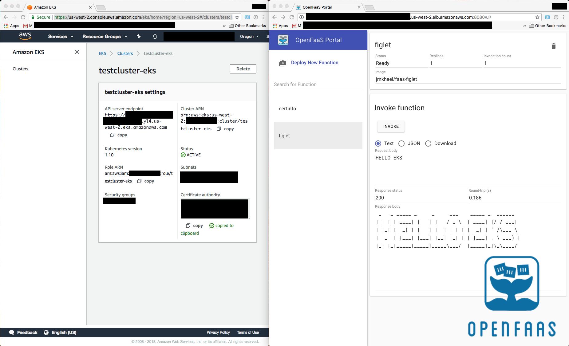 Deploying OpenFaaS on AWS EKS | johnmccabe net